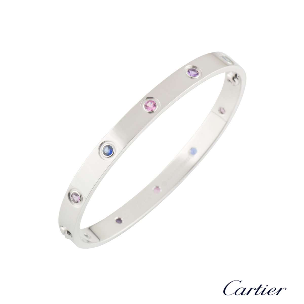 Cartier Coloured Stones Love Bracelet Size 17 B6036317
